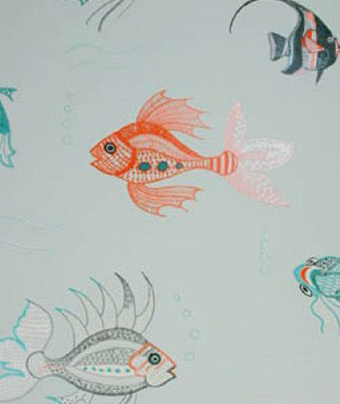Nina Campbell Aquarium Wallpaper | House of Ruby Interior Design | houseofruby.com