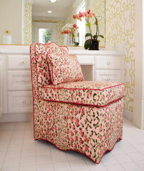Rose Cumming Pink Animal Print Fabric | House of Ruby Interior Design | houseofruby.com