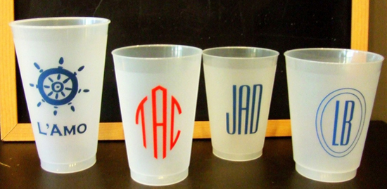 Monogram Party Cup