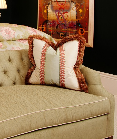 Colefax and Fowler Silk Stripe Fabric | House of Ruby Interior Design | houseofruby.com
