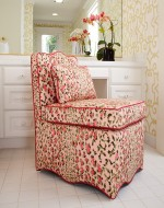 Magnolia Slipper Chair and Pillow