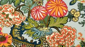 Schumacher Chiang Mai Dragon Wallpaper