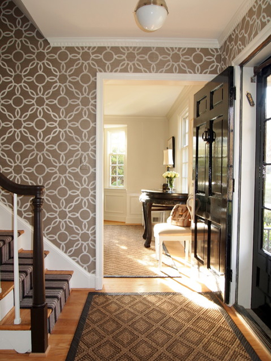 Entry with Phillip Jeffries Wallpaper